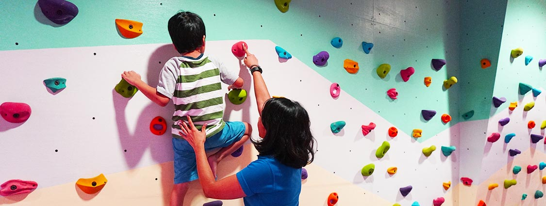 Rock climbing activities for autistic child